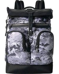 Tumi Black Alpha Bravo London Roll Top Backpack Backpack for men