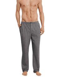 Schiesser Pyjamahose Lang 161599 in Gray für Herren