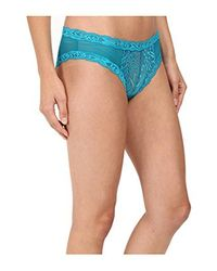 Natori - Blue Feathers Hipster - Lyst