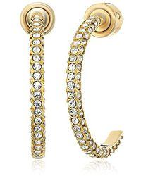 Michael Kors - Metallic S Brilliance Pave Hoop Earrings - Lyst