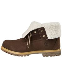 Auth Teddy Fleece Wp, Boots femme Timberland en coloris Brown