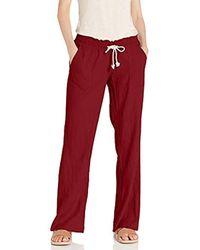 Oceanside Pantalon Roxy en coloris Red