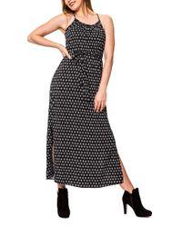 Vero Moda Black Maxi Kleid Trägerkleid mit Print