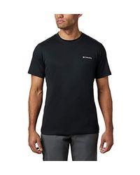 Zero Rules Short Sleeve Shirt di Columbia in Black da Uomo