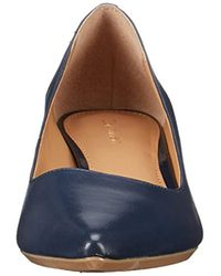 CALVIN KLEIN 205W39NYC Blue Gabrianna Shoe, Navy Leather, 6.5 Medium Us