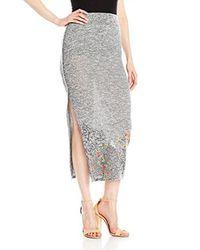 Desigual Gray Luca Knitted Long Skirt