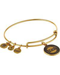 "ALEX AND ANI - Metallic Sorority Kappa Alpha Theta Expandable Rafaelian Bangle Bracelet, 2.4"" - Lyst"