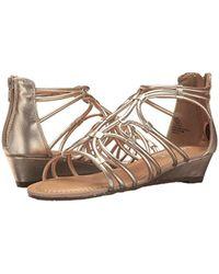 Esprit Metallic Cecile Zip Up Wedge Strappy Sandals