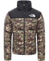 The North Face Green 1996 Retro Nuptse Down Jacket Burnt Olive for men