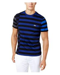 c589ea81 Lacoste Short Sleeve Broken Striped Jersey Tee-relaxed Fit in Blue ...