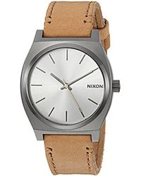 Nixon Multicolor 'time Teller' Quartz Stainless Steel Casual Watch, Color:brown (model: A0452741) for men