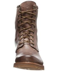 Frye Brown Veronica Combat Boot