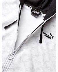 Logo All Over Print Pack Hoodie di PUMA in White da Uomo