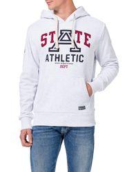Superdry Gray Collegiate State Ub Overhead Hooded Sweatshirt for men
