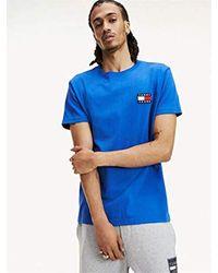 Tommy Hilfiger Blue Dm0dm06595 Badge Tee T-shirt for men