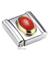 030502 - Maillon pour bracelet composable - Femme - Acier inoxydable et Or jaune 18 cts Nomination en coloris Metallic