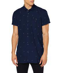 O'neill Sportswear Lm Allover Summer S/SLV Poloshirt für XL Blau-Pink/Violett in Blue für Herren