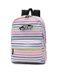 Sac à Dos Blanc/Multicolore Realm Vans en coloris Black