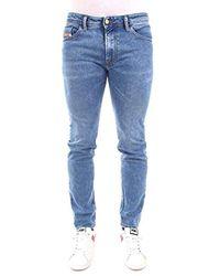 Jeans Slim Uomo di DIESEL in Blue da Uomo
