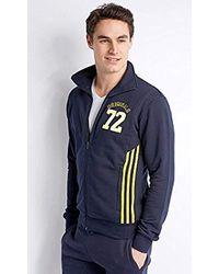 Adidas Blue Originals S Navy Slim Fit Tt Zip Sweater X-small for men