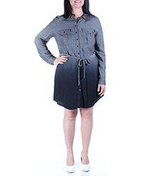 Kensie Blue Yarn Dyed Rayon Dress