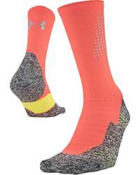 Run Cushion Reflective Crew Socks di Under Armour in Multicolor