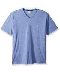 Lacoste - Blue Fine Stripe Short Sleeve T-shirt, Th6810 for Men - Lyst