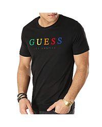 T Shirt L Guess pour homme en coloris Black