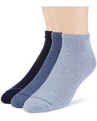 Socquettes Coton Calvin Klein pour homme en coloris Blue