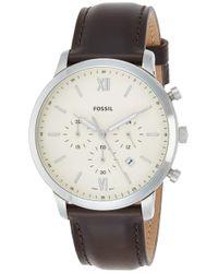 Chronographe Quartz Montre avec Bracelet en Cuir FS5380 Fossil pour homme en coloris White
