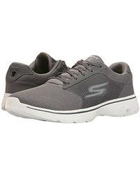 Skechers Gray Performance Go Walk 4 Lace-up Walking Shoe for men