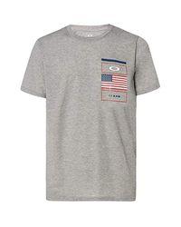 Oakley Gray Texas T-shirt Grey Melange Xxl for men