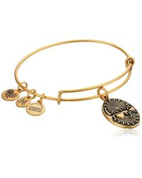 ALEX AND ANI Metallic Because I Love You Rafaelian Gold Bangle Bracelet