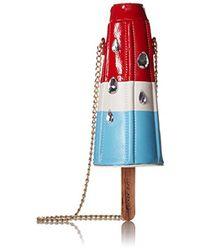 Betsey Johnson Blue Popsicle Rocket Pop Shoulder Bag