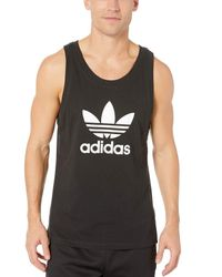 Adidas Originals Mens Trefoil Tank Top Black X-large for men