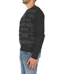 Moschino Love MSG65 10 X1201 Maglie Uomo di Love Moschino in Black da Uomo