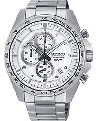 Orologio Cronografo Quarzo Uomo con Cinturino in Acciaio Inox SSB317P1 di Seiko in Metallic da Uomo