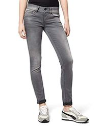 Midge Cody Mid Skinny Slander Grey Superstretch G-Star RAW de color Blue