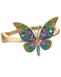Betsey Johnson Multicolor S Blooming Betsey Butterfly Statement Bracelet, Multi, One Size