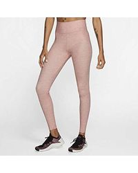 Nike One Luxe Heathered Tights Size Xl (pink Quartz)