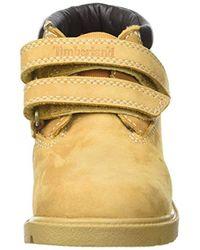 Timberland - Yellow Unisex Babies' Double Strap H&l Chukkawheat Nubuck Walking Shoes, Wheat - Lyst