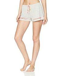 Kensie Gray Tank And Boxer Pajama Set