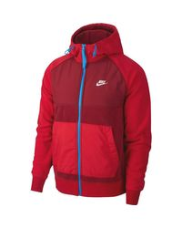 NSW Ce Full Zip Winter Hoodie di Nike in Red da Uomo
