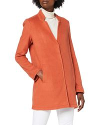 Vero Moda Red Vmbrushedkatrine 3/4 Jacket Boos Wool Blend Coat