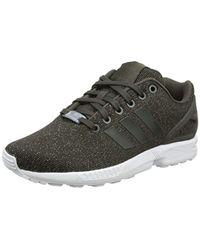 ZX Flux W, Chaussures de Running Femme Adidas en coloris Gray