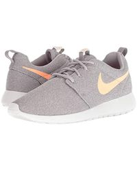 Nike Gray Roshe One Running Shoes (11 M US, Atmosphere Grey/Orange Pulse)