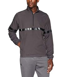 Sport Style Woven 1/2 Zip Sudadera cálida, Hombre Under Armour de hombre de color Gray