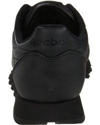 Reebok Black Classic Leather Sneaker