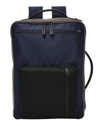Backpack Brief Buckner Backpack Brief Midnight Navy di Fossil in Blue da Uomo