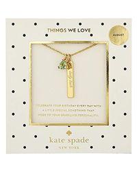 Kate Spade Multicolor August Peridot Pendant Necklace